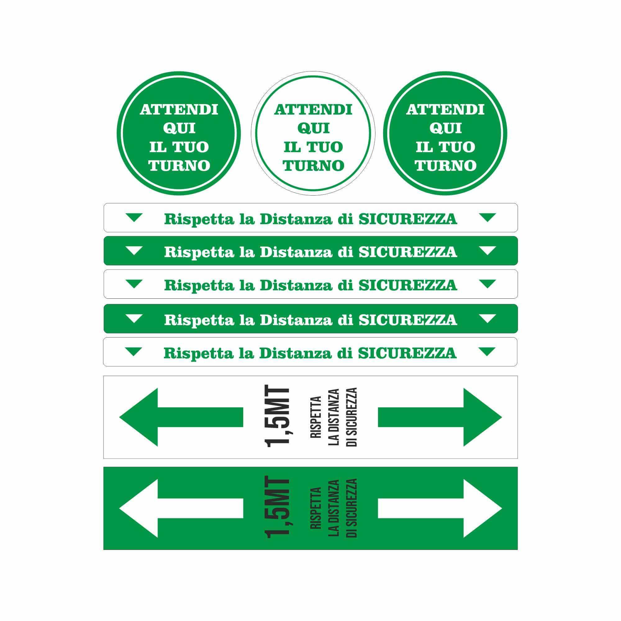Kit Adesivi Sicurezza Verde