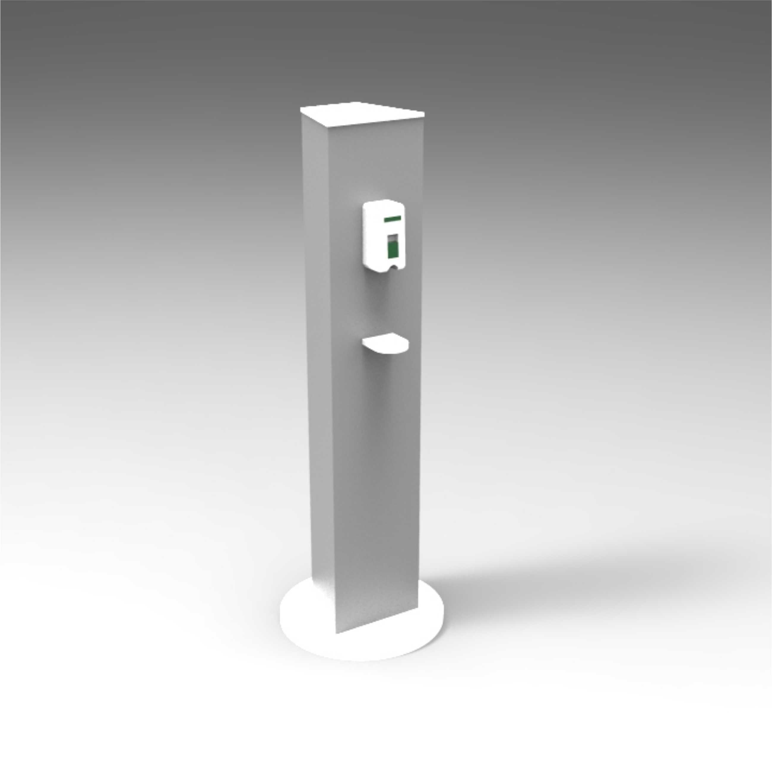 Colonnina Dispenser Gel Igenizzante Alluminio ROYAL